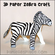 Zebra Paper Craft