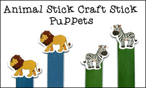 Animal Craft Stick Puppets