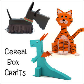 Cereal Box Crafts for Kids from www.daniellesplace.com