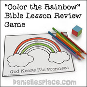 Color the Rainbow Bible Lesson Review Game from www.daniellesplace.com