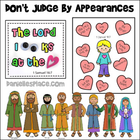 Don't Judge by Appearances Bible Lesson from www.daniellesplace.com