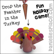 Drop the Feather in the Turkey Thanksgiving Game