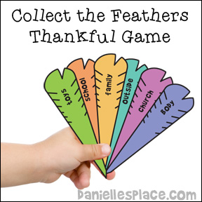 Collect the Feathers Thankful Game