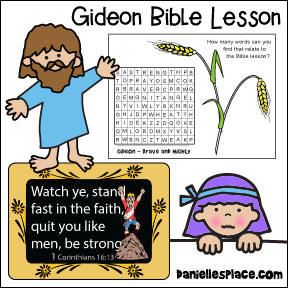 Gideon Bible Lesson for children - Kindergarten through 5th grade from www.daniellesplace.com