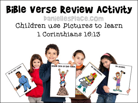Picture Bible verse review game for Gidean Bible lesson from www.daniellesplace.com