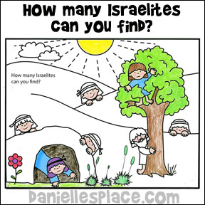 How Many Israelites Can You Find? Coloring and Activity Sheet from www.daniellesplace.com