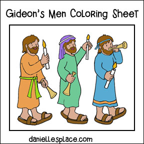 Gideon's Men color Sheet