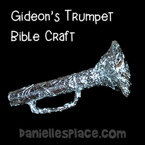 Gideon's Trumpet Bible Craft from www.danielllesplace.com