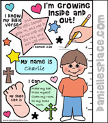 """I'm Growing Inside and Out"" Activity Sheet from www.daniellesplace.com"