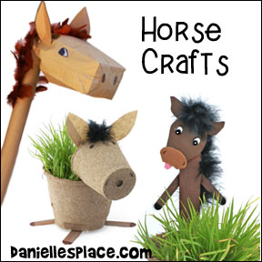 Horse Crafts for Children from www.daniellesplace.com