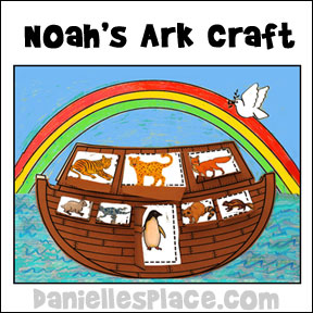 Noah's Ark Craft for Kids from www.daniellesplace.com