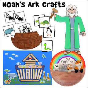 Bible Crafts and Activities for Noah's Ark Bible Lesson on www.daniellesplace.com
