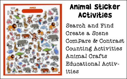 Animal Sticker Activities