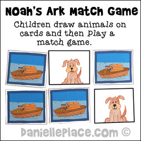 Noah's Ark Concentration Game and Bible Craft for Children from www.daniellesplace.com