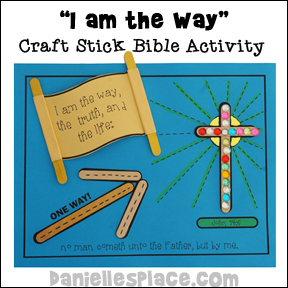 I am the way craft stick activity sheet