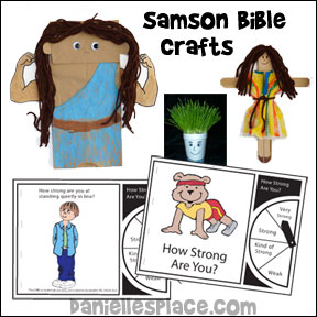 Samson Bible Lesson for Children from www.daniellesplace.com