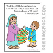 Samuel Grows Inside and Out Coloring Sheet from www.daniellesplace.com