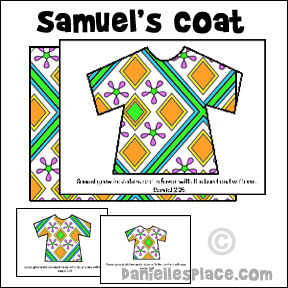 Samuel' s Coat Book Craft from www.daniellesplace.com