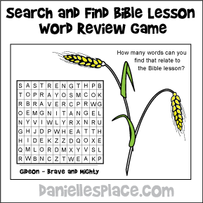 Search and Find Activity Sheet
