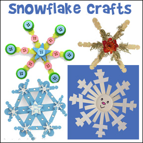 Snowflake Crafts from www.daniellesplace.com
