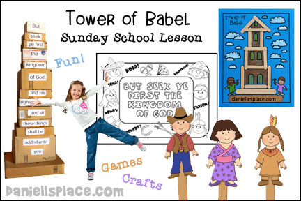 Tower of Babel Sunday School Lesson for Children