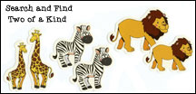 Search and Find Two of a Kind Animal Sticker Fun