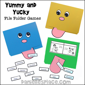 Yummy and Yucky Fild Folder Reading Games from www.daniellesplace.com