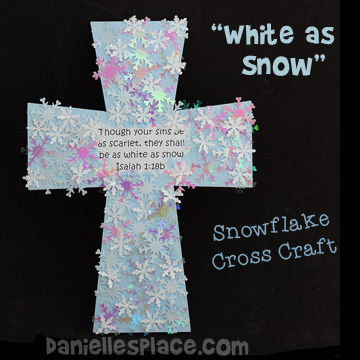 Snowflake Cross Craft for Kids from www.daniellesplace.com
