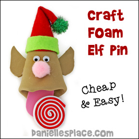 Craft Foam Elf Christmas Craft for Kids from www.daniellesplace.com