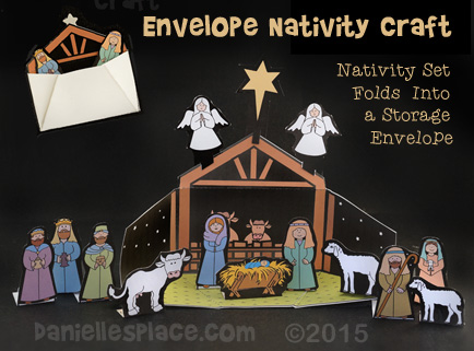 Envelope Nativity Set Craft for Kids from www.daniellesplace.com