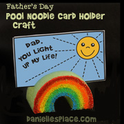 """Dad, You Light up My Life!"" Rainbow Pool Noodle Craft for Kids"