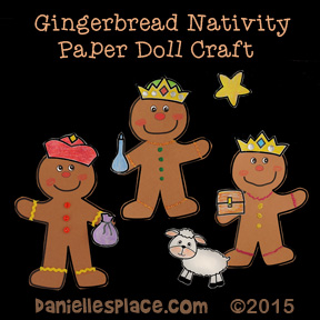 Gingerbread Nativity Paper Dolls Craft for Kids from www.daniellesplace.com - Wisemen