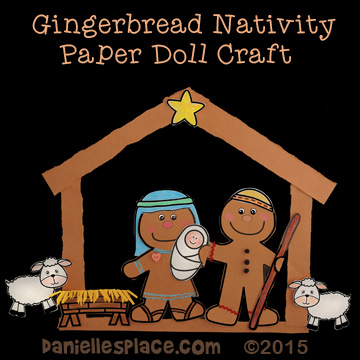 Gingerbread Men Nativity Paper Doll Craft for Kids from www.daniellesplace.com