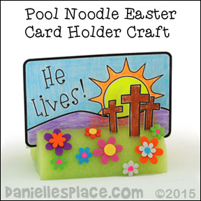 """He Lives! Easter Display Craft for Kids from www.daniellesplace.com - Made from a pool noodle and cost only pennies to make!"