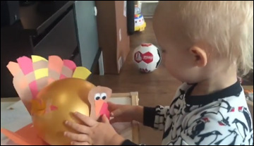 Logan Gets Crafty! Thanksgiving Balloon Turkeys