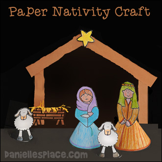 Standup Nativity Set Paper Craft for Kids from www.daniellesplace.com