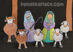 Nativity Shepherd Craft from www.daniellesplace.com