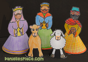 Wisemen 3D Nativity Figures