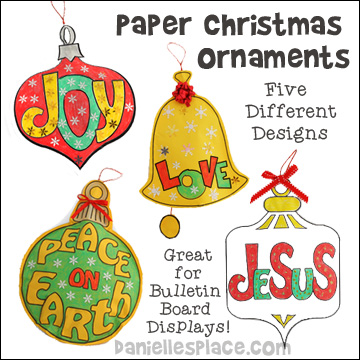 Paper Christmas Ornaments for Children from www.daniellesplace.com
