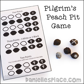 Peach Pit Pilgrim Game for Children from www.daniellesplace.com