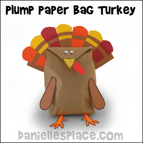Plump Paper Bag Turkey Craft from www.daniellesplace.com