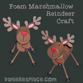 Marshmallow Reindeer Craft for Kids from www.daniellesplace.com