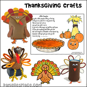 Thanksgiving craft for children from www daniellesplace com