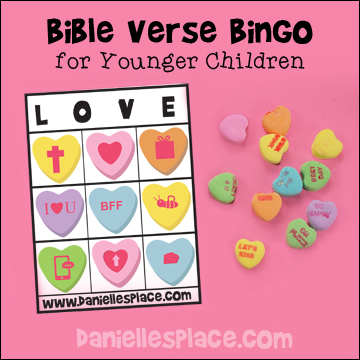 Heart Bible Bingo for Children from www.daniellesplace.com - Comes with 20 different Bingo Cards
