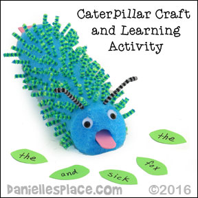 Caterpillar Craft for Kids from www.daniellesplace.com