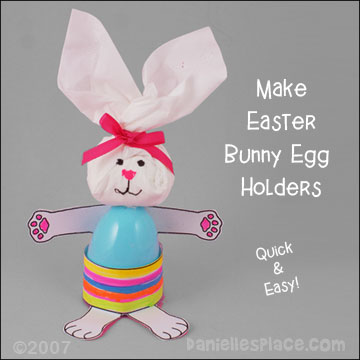 Bunny Easter Egg Holder Craft for Kids from www.daniellesplace.com