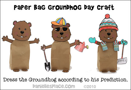 Groundhog Day Paper Bag Craft for Kids from www.daniellesplace.com