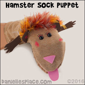 Hampster Sock Puppet from www.daniellesplace.com