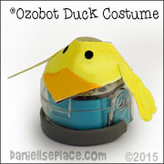 Duck Ozobot Customes from www.daniellesplace.com.  Printable patterns available on Danielle's Place.