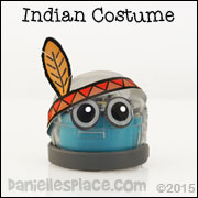 Indian Ozobot Headband Printable Pattern from www.daniellesplace.com